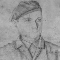 Portret Ignacego Bartosiaka wykonany w Gęsi.