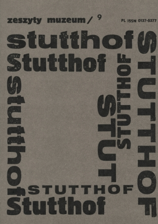 okładka Zeszyty Muzeum Stutthof Nr 9