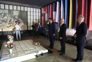 Wizyta Prezesa Rady Ministrów RP Mateusza Morawieckiego w Muzeum Stutthof w Sztutowie