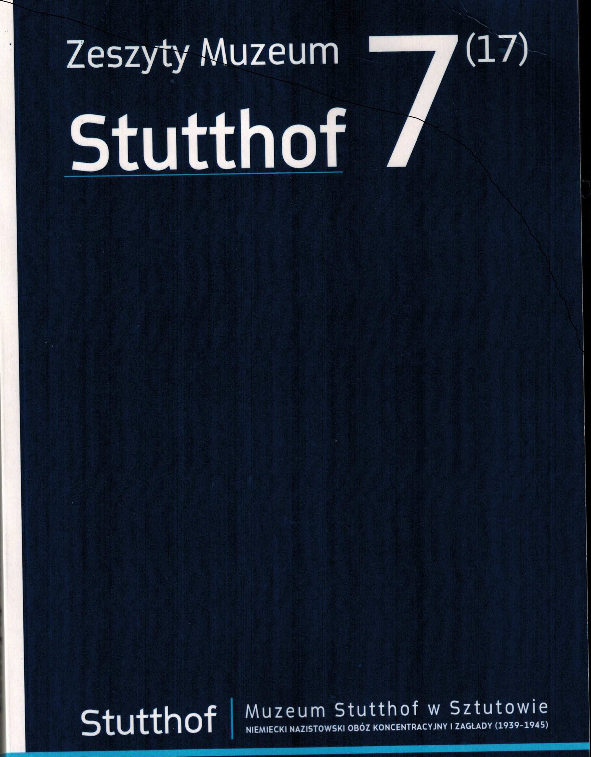okładka Zeszyty Muzeum Stutthof nr 7