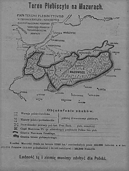 Polacy z Warmii, Mazur i Powiśla w stulecie plebiscytu.