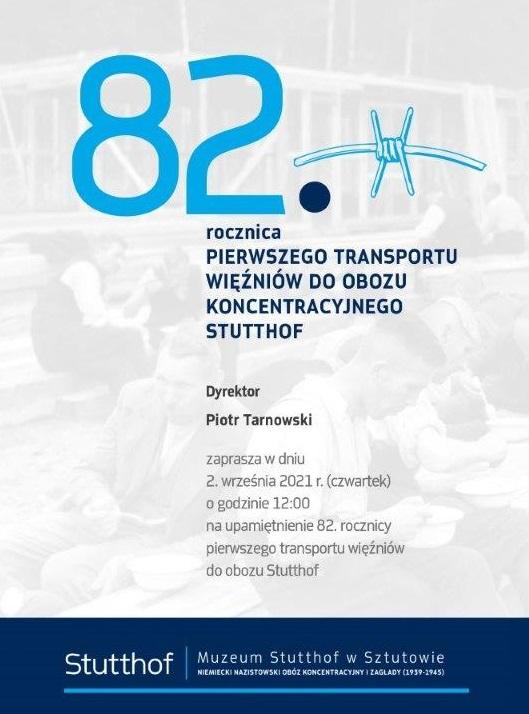 82. rocznica pierwszego transportu więźniów do obozu Stutthof